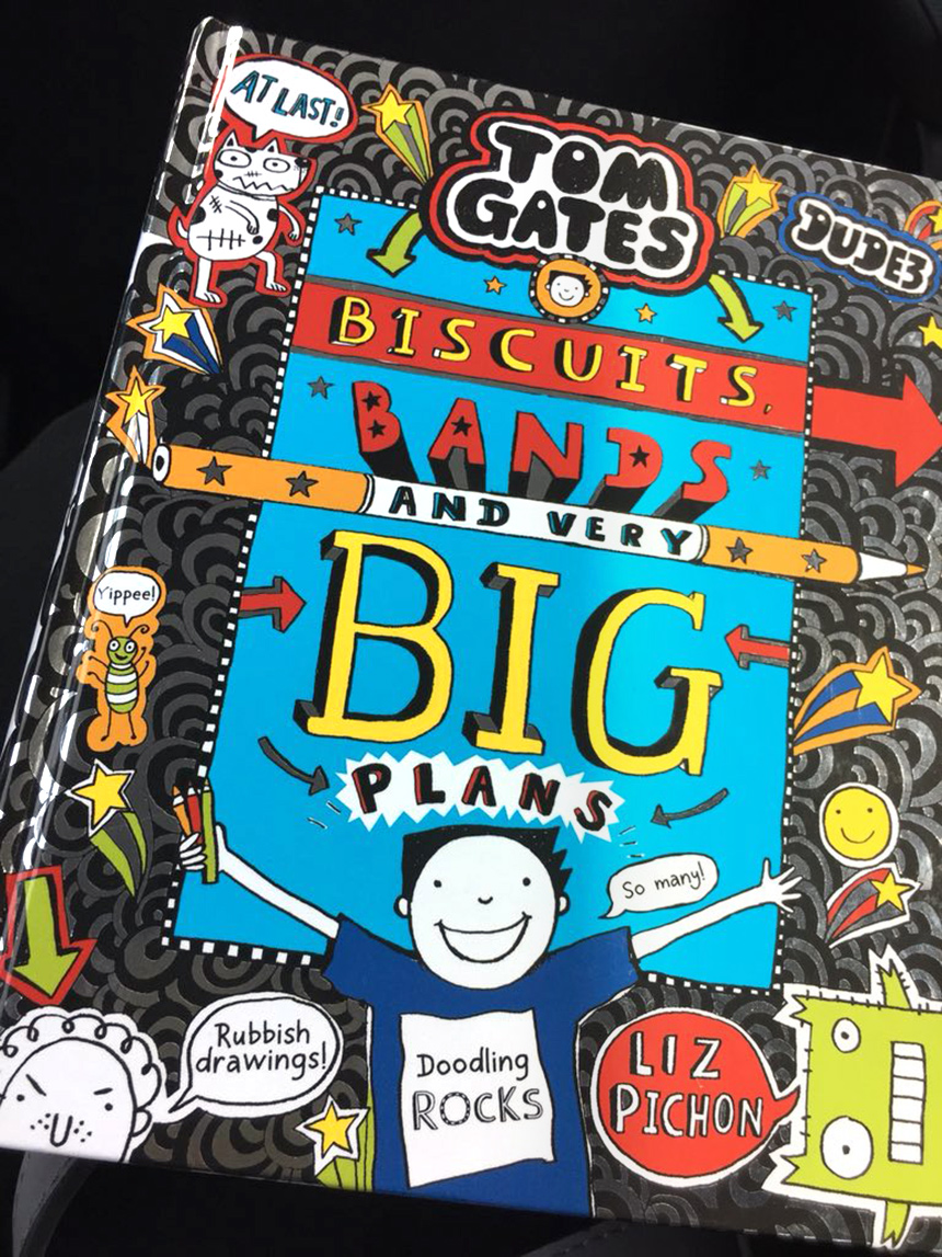 Tom Gates: Biscuits, Bands and Very Big Plans - Is on sale NOW!!