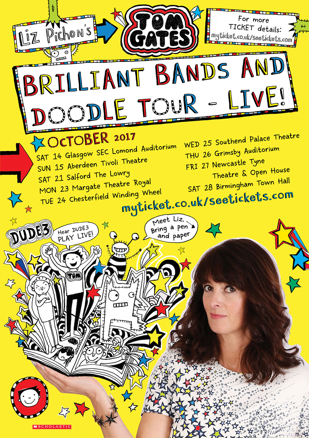 Tom Gates Brilliant Bands and Doodle Tour - IN GLASGOW!