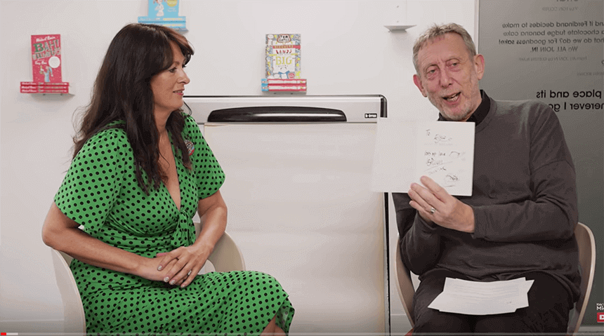 Liz and Michael Rosen talk about writing books.