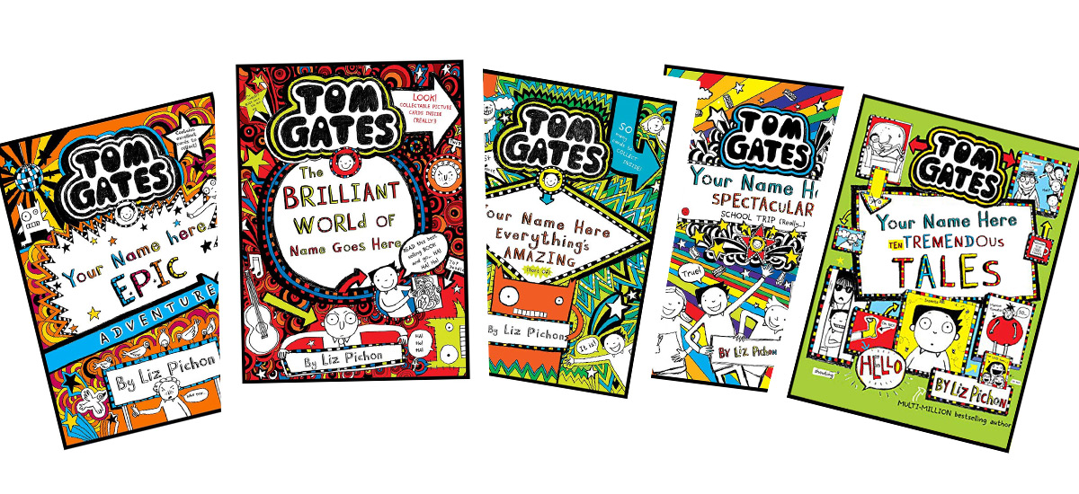 Tom Gates Book Cover Posters - Back in Time for Christmas!
